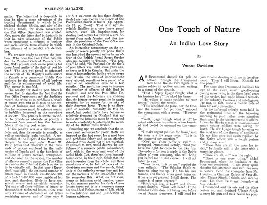 Article Preview: One Touch of Nature An Indian Love Story, November 1911 | Maclean's