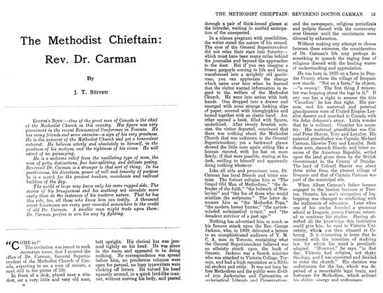 Article Preview: The Methodist Chieftain: Rev. Dr. Carman, November 1911 | Maclean's