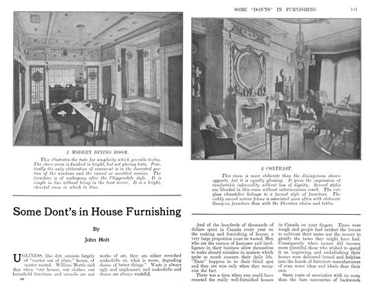 Article Preview: Some Dont's in House Furnishing, December 1911 | Maclean's