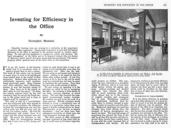Article Preview: Investing for Efficiency in the Office, February 1912 | Maclean's