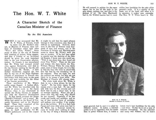 Article Preview: The Hon. W. T. White, March 1912 | Maclean's
