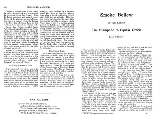 Article Preview: Smoke Bellew, March 1912 | Maclean's