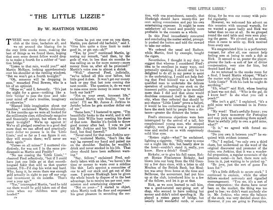 """Article Preview: """" THE LITTLE LIZZIE"""", April 1912 