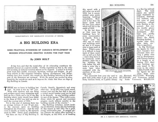 Article Preview: A BIG BUILDING ERA, April 1912 | Maclean's