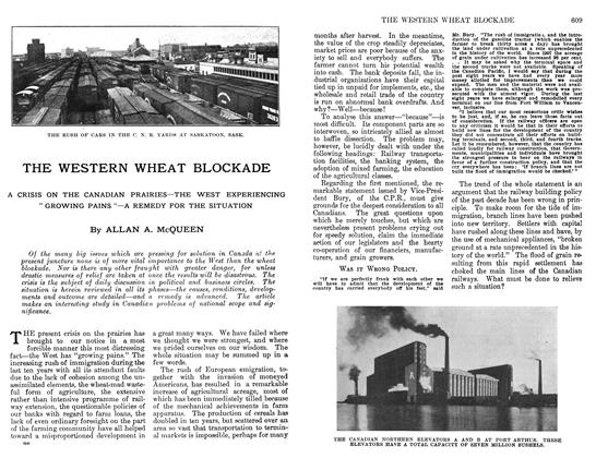 Article Preview: THE WESTERN WHEAT BLOCKADE, April 1912 | Maclean's