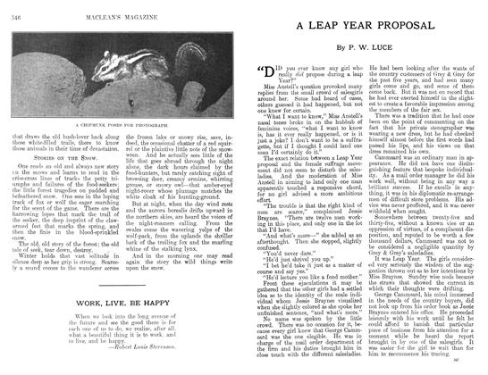 Article Preview: A LEAP YEAR PROPOSAL, April 1912 | Maclean's