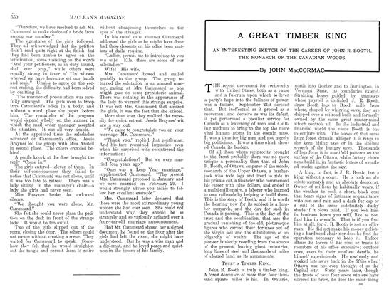 Article Preview: A GREAT TIMBER KING, April 1912 | Maclean's