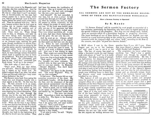 Article Preview: The Sermon Factory, May 1912 | Maclean's