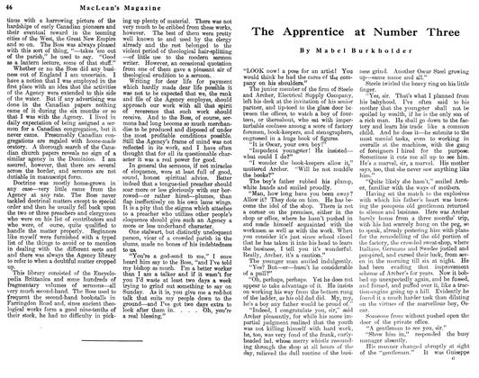 Article Preview: The Apprentice at Number Three, May 1912 | Maclean's