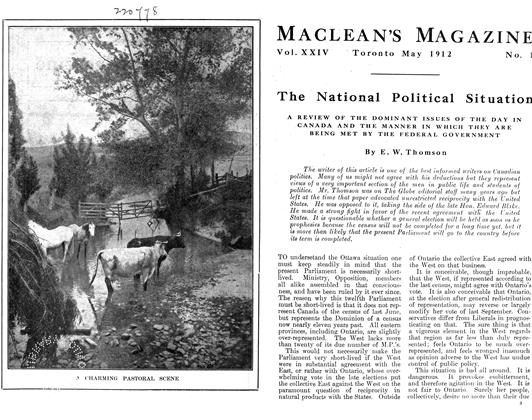 Article Preview: The National Political Situation, May 1912 | Maclean's