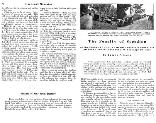 Article Preview: The Penalty of Speeding, May 1912   Maclean's