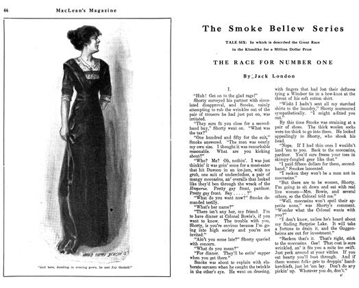 Article Preview: The Smoke Bellew Series, June 1912 | Maclean's