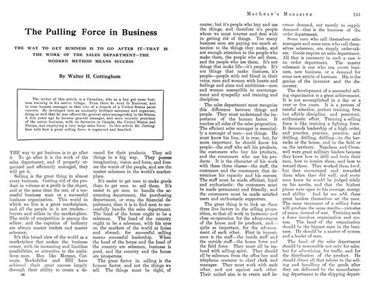 Article Preview: The Pulling Force in Business, July 1912 | Maclean's