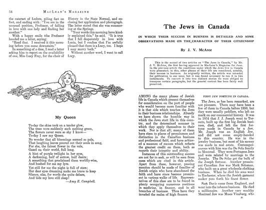 Article Preview: The Jews in Canada, August 1912 | Maclean's