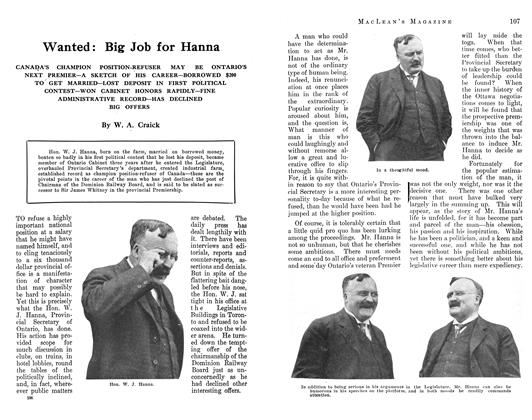 Article Preview: Wanted: Big Job for Hanna, August 1912 | Maclean's