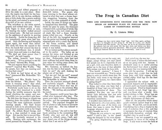 Article Preview: The Frog in Canadian Diet, September 1912 | Maclean's