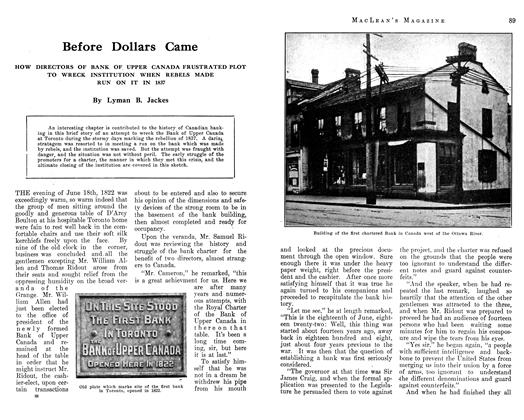 Article Preview: Before Dollars Came, September 1912 | Maclean's