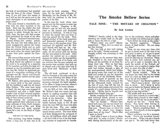 Article Preview: The Smoke Bellew Series, September 1912 | Maclean's