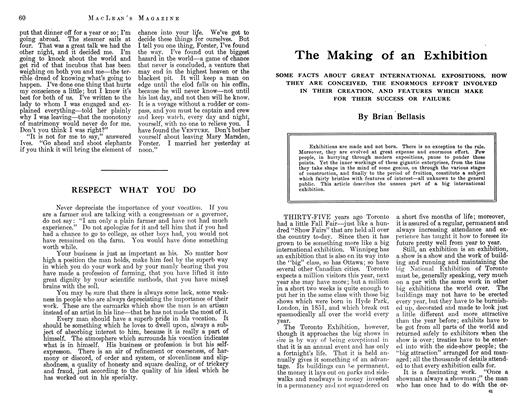 Article Preview: The Making of an Exhibition, October 1912 | Maclean's