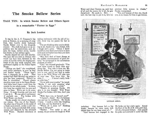 Article Preview: The Smoke Bellew Series, October 1912 | Maclean's