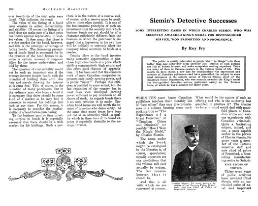 Article Preview: Slemin's Detective Successes, October 1912 | Maclean's