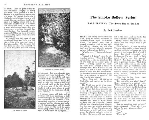 Article Preview: The Smoke Bellew Series, November 1912 | Maclean's