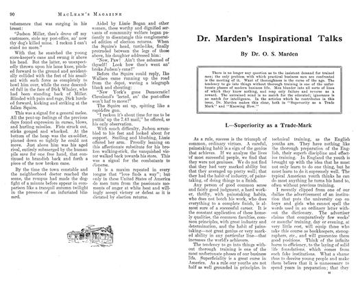 Article Preview: Dr. Marden's Inspirational Talks, November 1912 | Maclean's