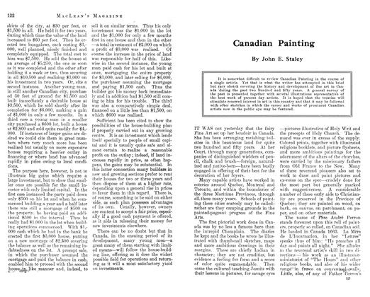 Article Preview: Canadian Painting, November 1912 | Maclean's