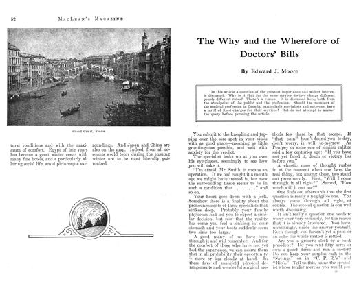 Article Preview: The Why and the Wherefore of Doctors' Bills, December 1912 | Maclean's