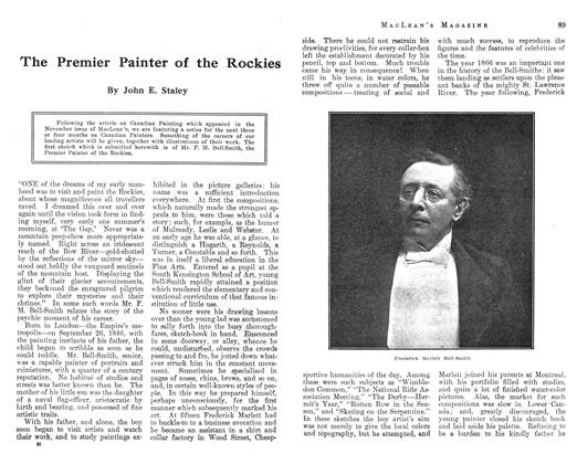 Article Preview: The Premier Painter of the Rockies, December 1912 | Maclean's