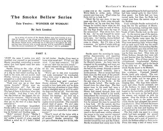 Article Preview: The Smoke Bellew Series, December 1912 | Maclean's