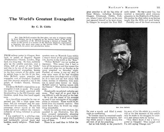 Article Preview: The World's Greatest Evangelist, December 1912 | Maclean's
