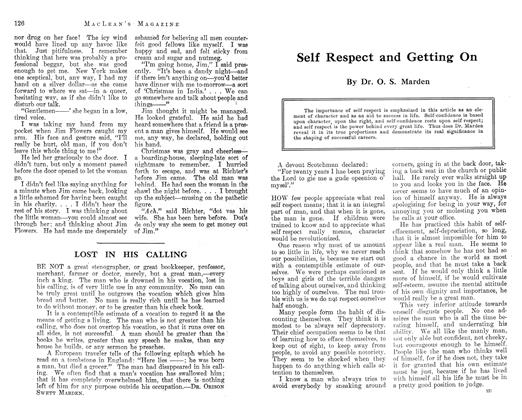 Article Preview: Self Respect and Getting On, December 1912 | Maclean's