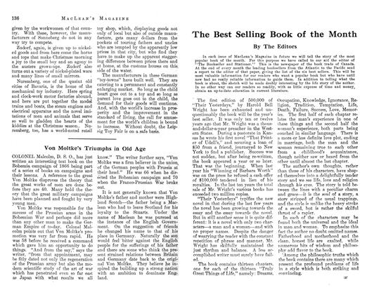 Article Preview: The Best Selling Book of the Month, December 1912 | Maclean's