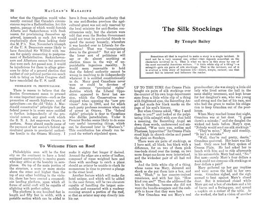 Article Preview: The Silk Stockings, December 1912   Maclean's