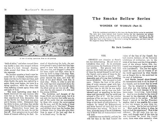 Article Preview: The Smoke Bellew Series, January 1913 | Maclean's