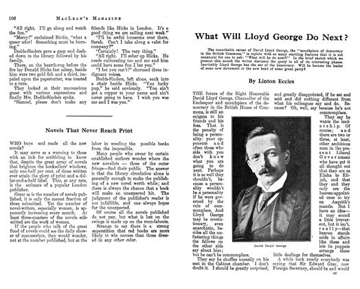 Article Preview: What Will Lloyd George Do Next ?, January 1913 | Maclean's