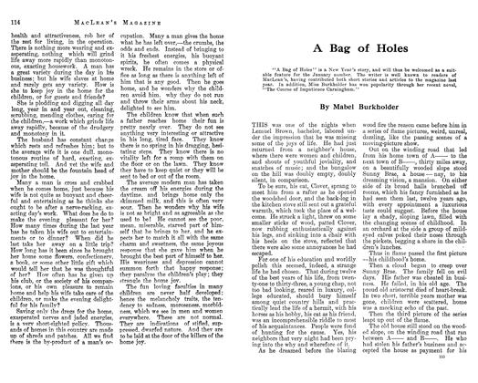 Article Preview: A Bag of Holes, January 1913 | Maclean's