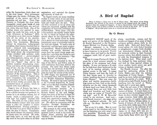 Article Preview: A Bird of Bagdad, January 1913 | Maclean's