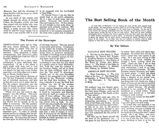 Article Preview: The Best Selling Book of the Month, January 1913 | Maclean's