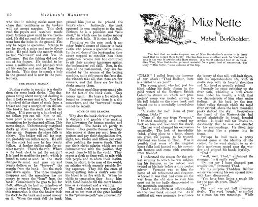 Article Preview: Miss Nette, February 1913 | Maclean's