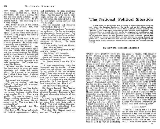 Article Preview: The National Political Situation, February 1913 | Maclean's