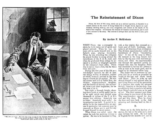 Article Preview: The Reinstatement of Dixon, March 1913 | Maclean's