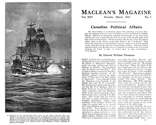 Article Preview: Canadian Political Affairs, March 1913 | Maclean's