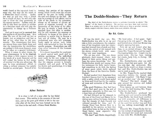 Article Preview: The Dodds-Sinders—They Return, March 1913 | Maclean's