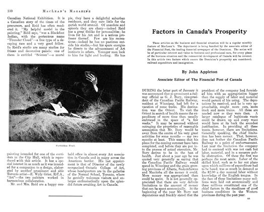 Article Preview: Factors in Canada's Prosperity, March 1913 | Maclean's