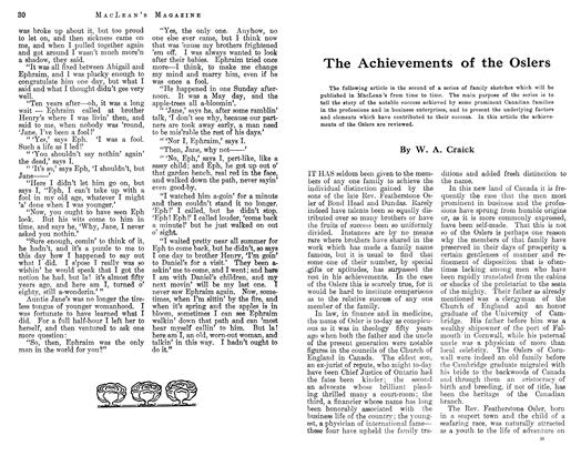 Article Preview: The Achievements of the Oslers, March 1913 | Maclean's