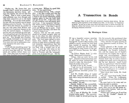 Article Preview: A Transaction in Bonds, April 1913 | Maclean's