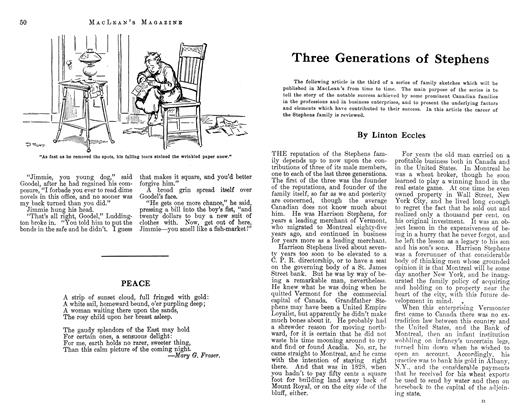 Article Preview: Three Generations of Stephens, April 1913 | Maclean's