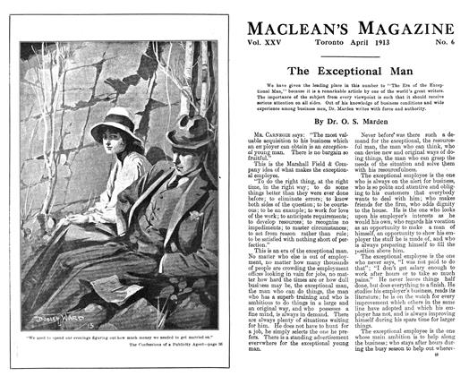 Article Preview: The Confessions of a Publicity Agent, April 1913 | Maclean's